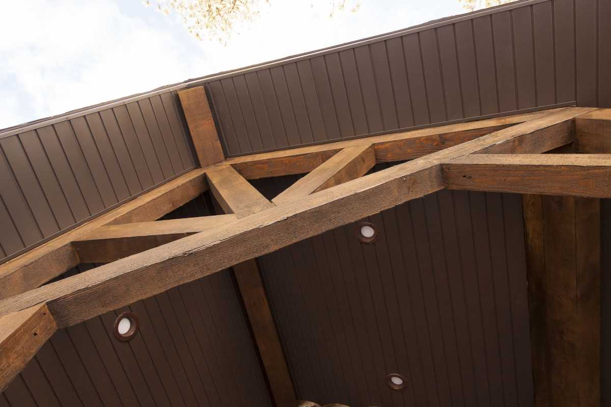 Timber entryway trusses! A Timberline classic.
