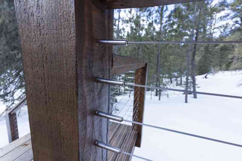 Sleek cable railing on the back deck!