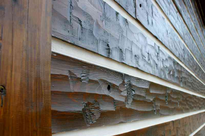 A detailed look at the hand-scraped log siding.