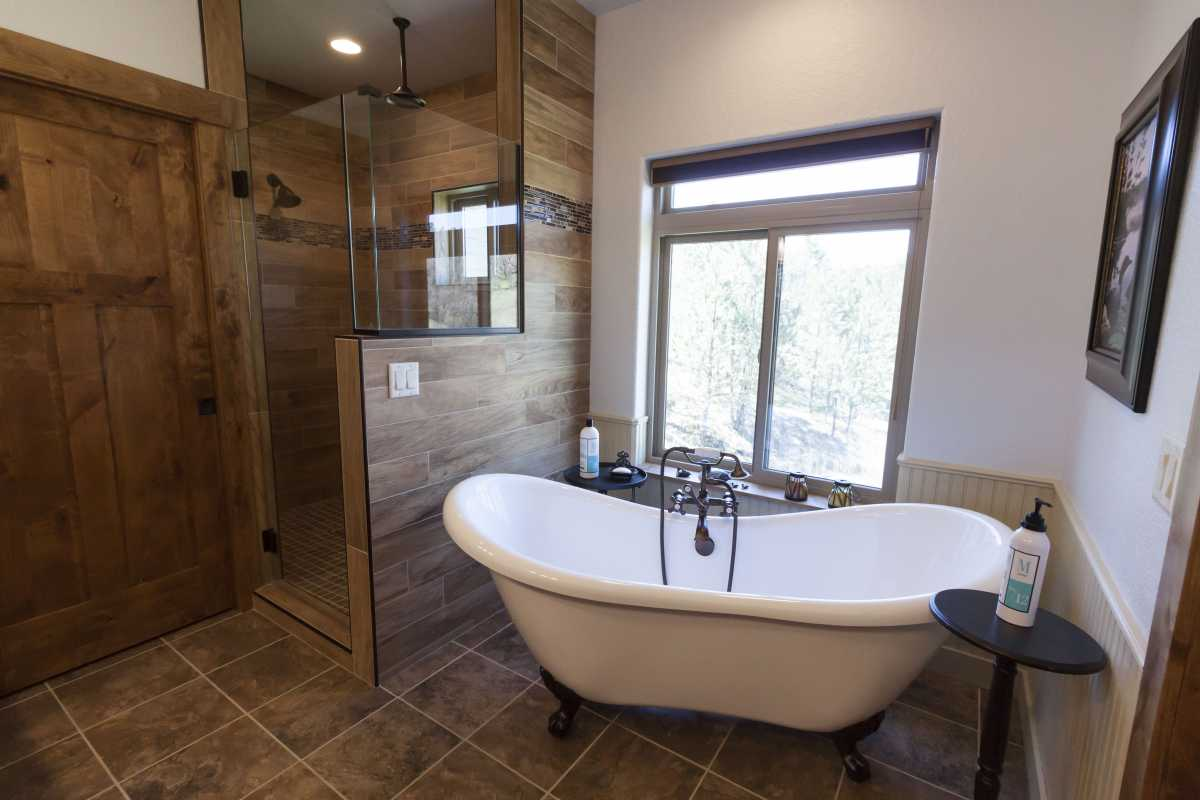 The master bath spa! Complete with an old fashion claw foot tub.