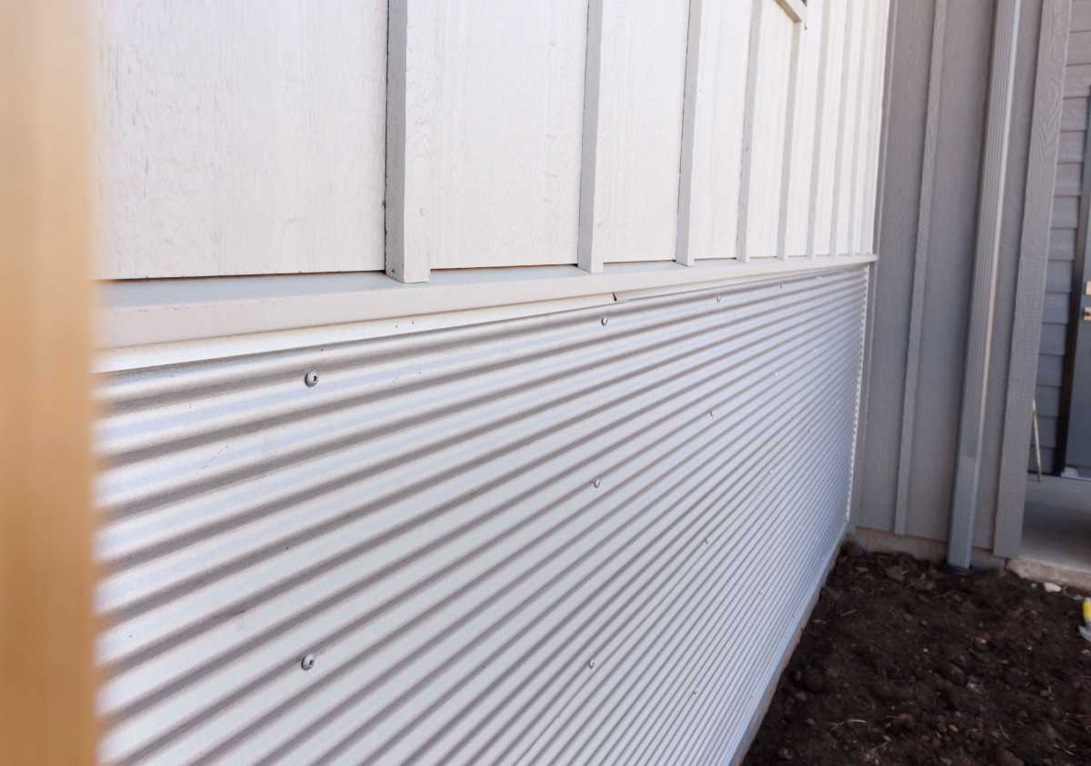 Bare steel siding with no extras color or texture add variety!